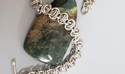 Cover image for 'Sterling Silver Barrel Weave Chainmaille Bracelet Workshop - September'