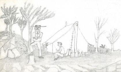 Cover image for 'Q&A session for exhibition 'The Drawings of Charlie Flannigan''