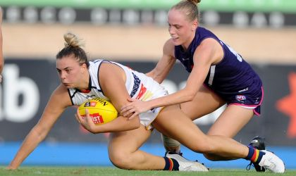 Cover image for 'AFLW 3.0, Round 4: Adelaide Crows vs Fremantle '