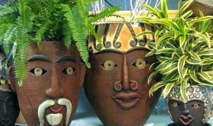 Cover image for 'Plant Some Personality - Clay Planters with Faces'