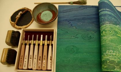 Cover image for 'Japanese Woodblock (mokuhanga) Weekend Class'