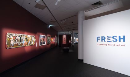 Cover image for 'Fresh: connecting new & old art'