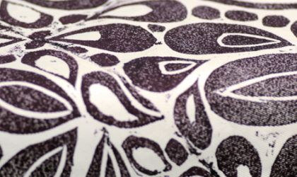 Cover image for 'Lino Printing on Textiles'