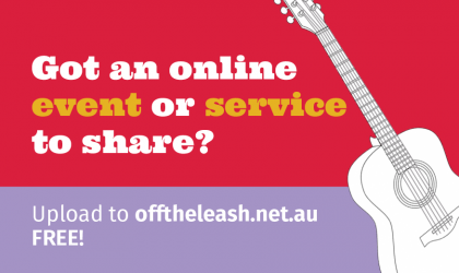 Cover image for 'Upload your event or service to Off The Leash!'