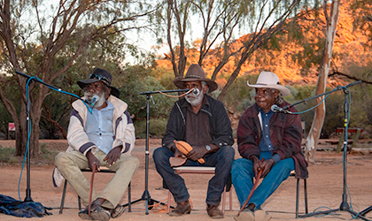 Tinkerbee Eastern and Central Arrernte cultural performance at the 2019 NT Writers Festival